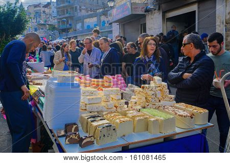 Market Scene, Part Of The Holiday Of Holidays In Haifa