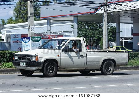 CHIANG MAI THAILAND - OCTOBER 31 2016: Private old Pickup car Nissan Big M BD. Photo at road no 121 about 8 km from downtown Chiangmai thailand.