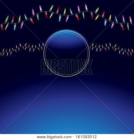 An image of a Wavy Christmas Light String Background.