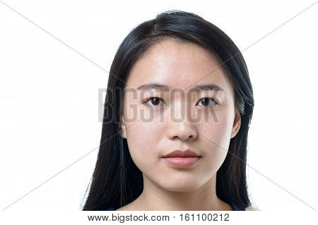 Head Shot Of An Attractive Calm Chinese Woman