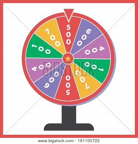 Fortune wheel vector illustration. Wheel fortune logo