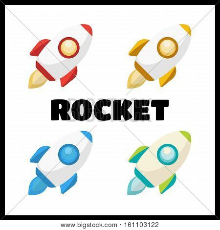 Rocket collection icon. Rockets set vector illustration