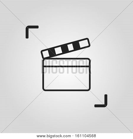 Vector clapperboard icon. One of set web icons. EPS10