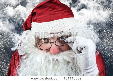 Santa Claus Portrait In The Christmas Night