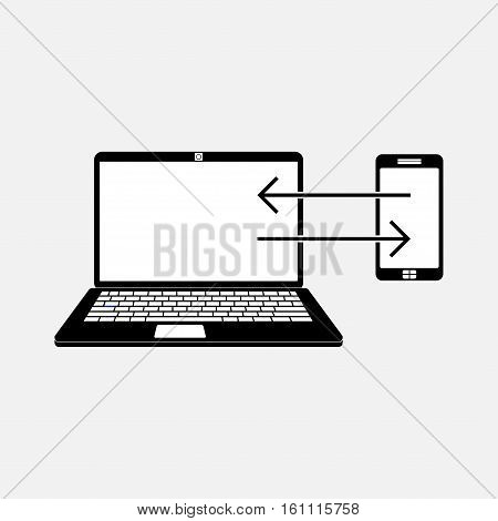 icon data transfer, data exchange, transfer, fully editable vector image