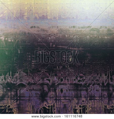 Abstract grunge background or aged texture. Old school backdrop with vintage feeling and different color patterns: yellow (beige); brown; gray; blue; purple (violet); black