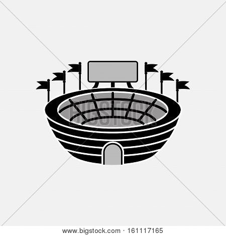 icon stadium with scoreboard, sports, information, fully editable vector image