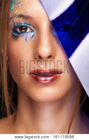 Woman With Creative Make Up In Conceptual Beauty Image
