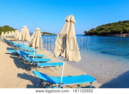 Summer Morning Ksamil Beach, Albania.