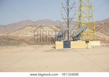 Sharm El Sheikh Egypt Solar Panels in desert