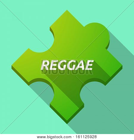 Long Shadow Puzzle Piece With    The Text Reggae