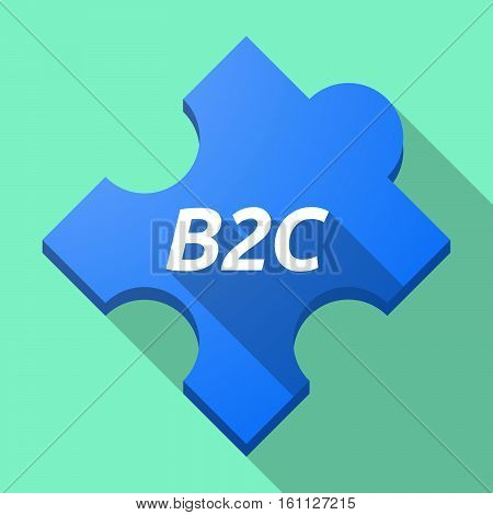 Long Shadow Puzzle Piece With    The Text B2C