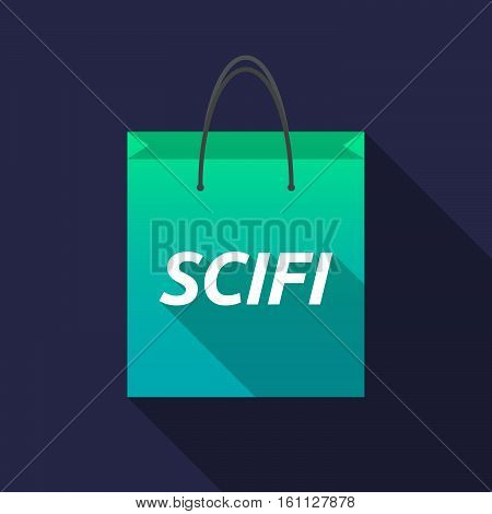 Long Shadow Shopping Bag With    The Text Scifi
