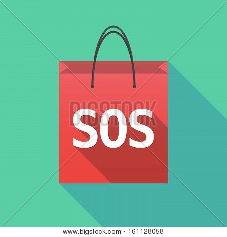 Long Shadow Shopping Bag With    The Text Sos
