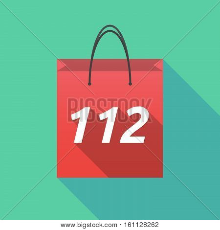 Long Shadow Shopping Bag With    The Text 112