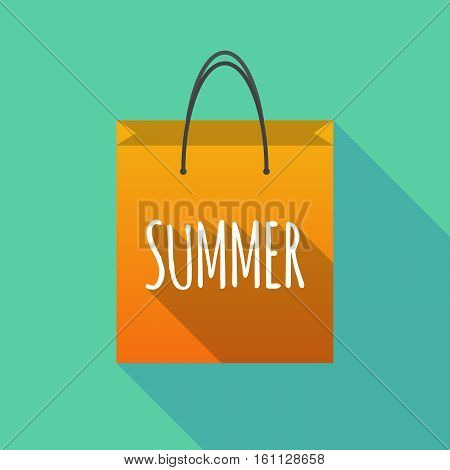 Long Shadow Shopping Bag With    The Text Summer