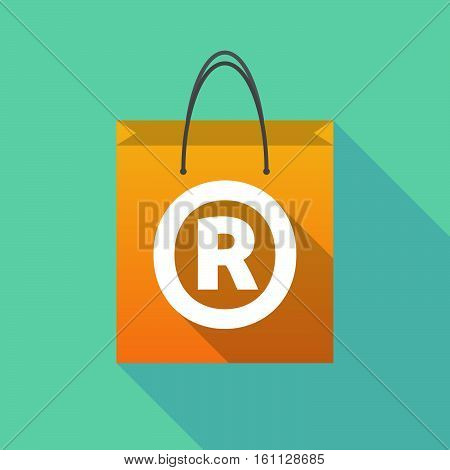 Long Shadow Shopping Bag With    The Registered Trademark Symbol