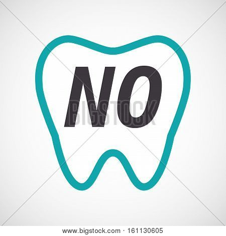Isolated Tooth With    The Text No