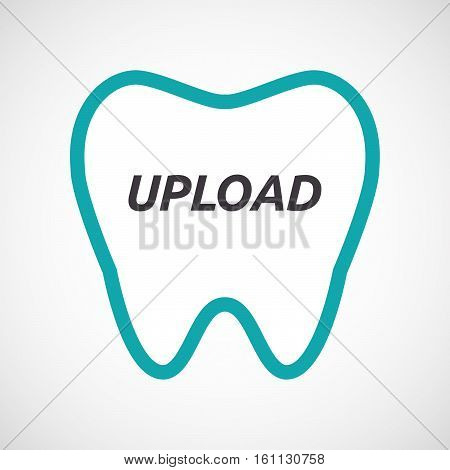 Isolated Tooth With    The Text Upload