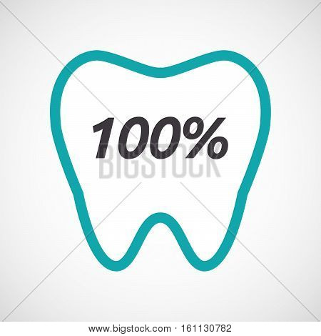 Isolated Tooth With    The Text 100%