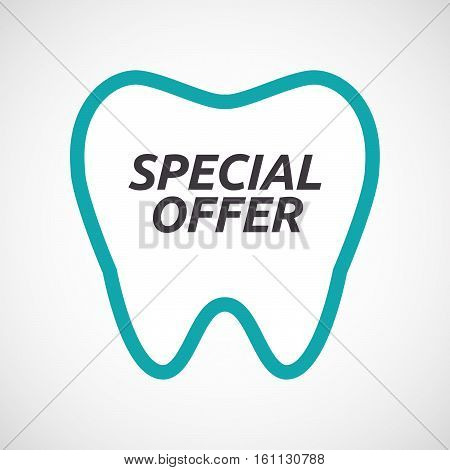 Isolated Tooth With    The Text Special Offer