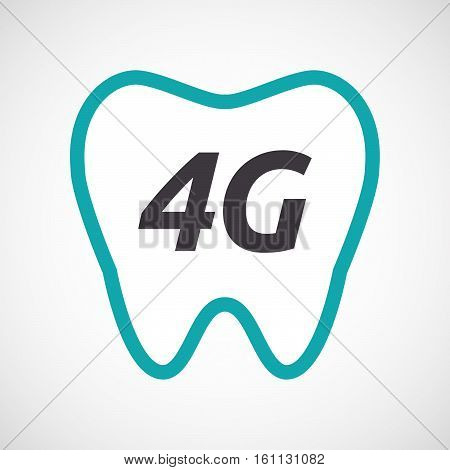 Isolated Tooth With    The Text 4G