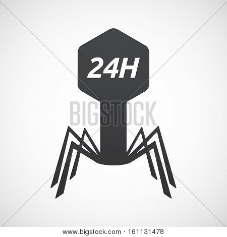 Isolated Virus With    The Text 24H