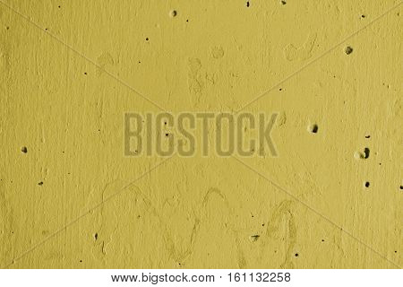 Plaster, yellow plaster on a concrete wall. Stucco yellow wall background or texture. Plaster texture, plaster background. Yellow wall, yellow background. Color plaster.