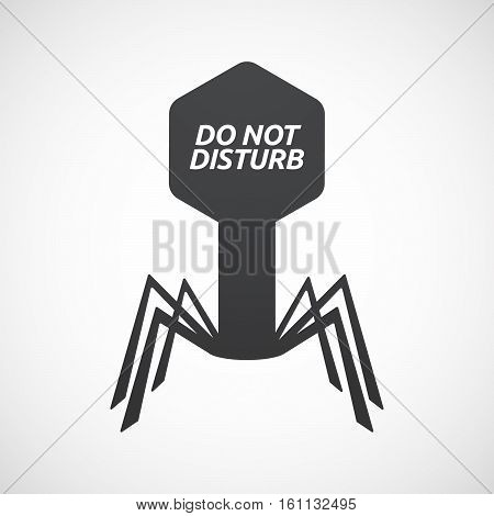 Isolated Virus With    The Text Do Not Disturb