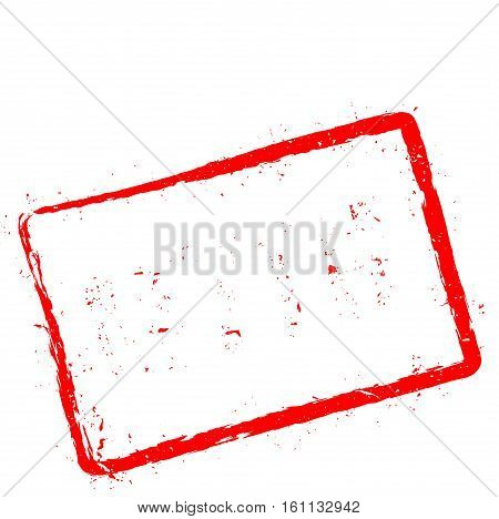 Myth Red Rubber Stamp Isolated On White Background. Grunge Rectangular Seal With Text, Ink Texture A