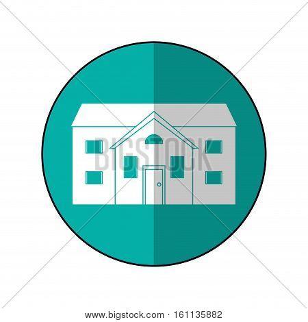 house suburban home circle shadow vector illustration eps 10