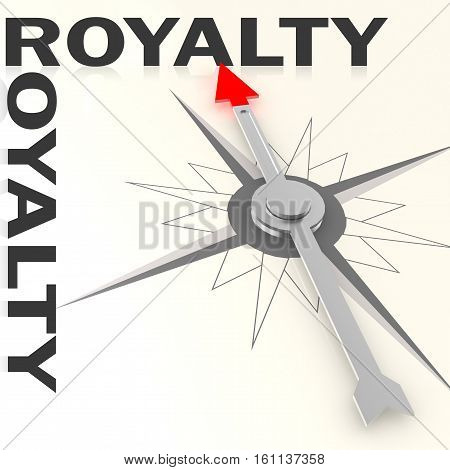Compass With Royalty Word Isolated