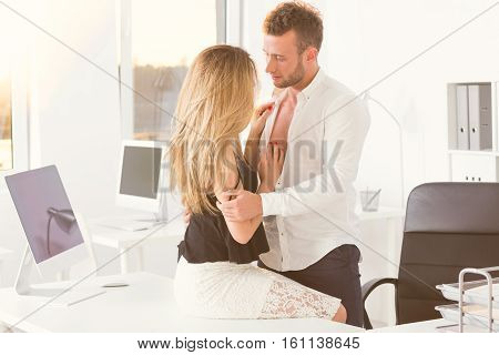Employees Getting Intimate In The Office