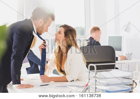 Passionate Couple In The Office