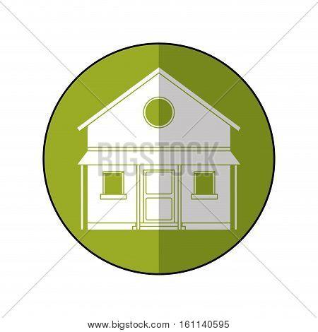 familiy house countryside green circle vector illustration eps 10