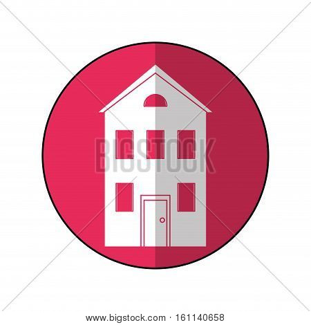 real state house two floor circle vector illustration eps 10