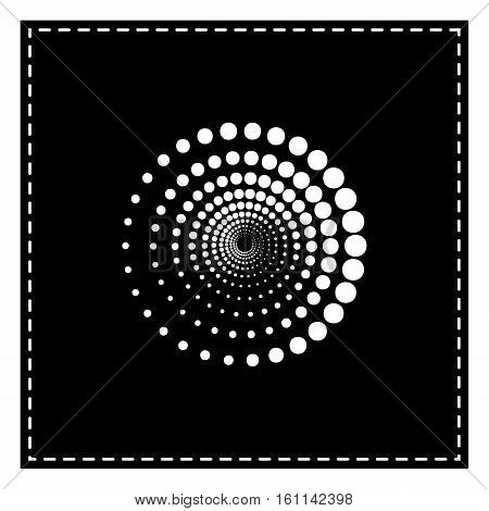 Abstract Technology Circles Sign. Black Patch On White Backgroun