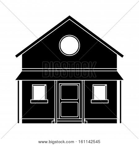 familiy house countryside pictogram vector illustration eps 10