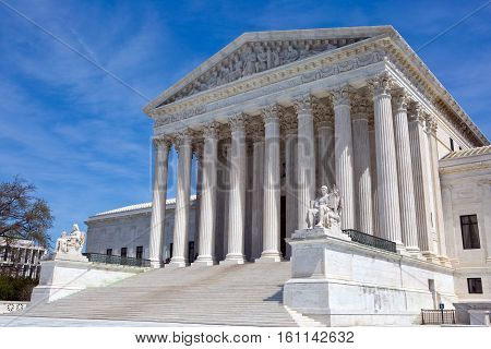 United States Supreme Court building is located in Washington D.C. USA.