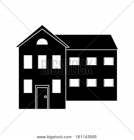 big house and many windows pictogram vector illustration eps 10