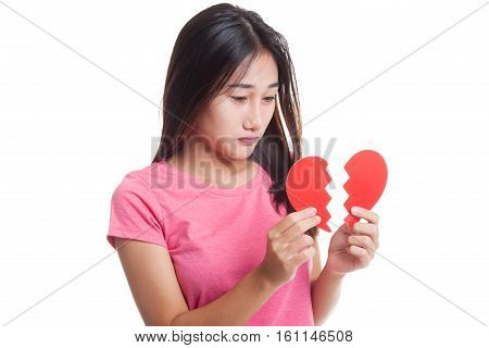 Beautiful Young Asian Woman With Broken Heart..