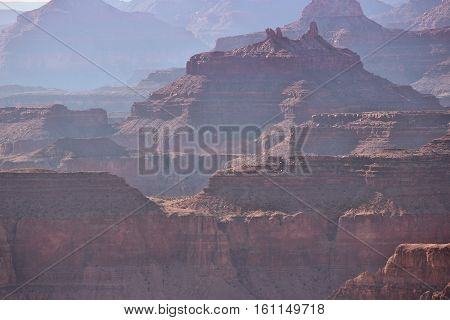 Hazy Grand Canyon