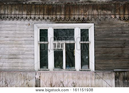 artsy decor trim and classic old wooden house. triangular patterns and wood texture old wood color