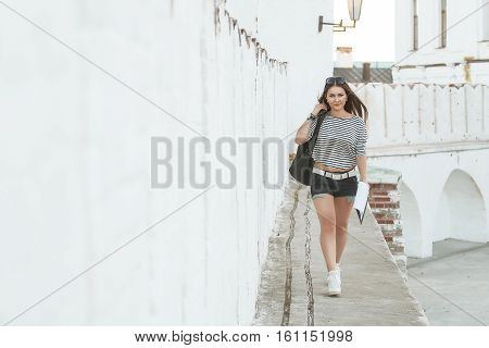 Fashion shot of beautiful girl in vintage