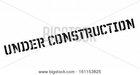 Under construction rubber stamp. Grunge design with dust scratches. Effects can be easily removed for a clean, crisp look. Color is easily changed.
