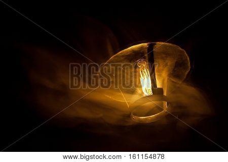 Decorative Antique Edison Style Light Bulbs Chandelier Background