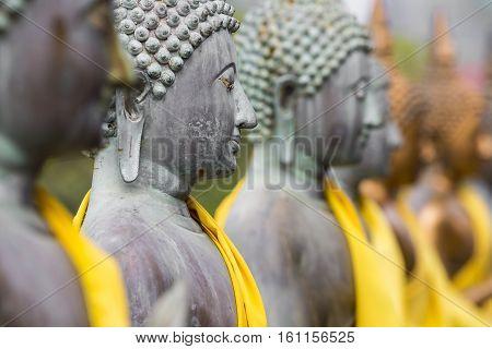 Buddha Statues In Seema Malaka Temple, Colombo, Sri Lanka
