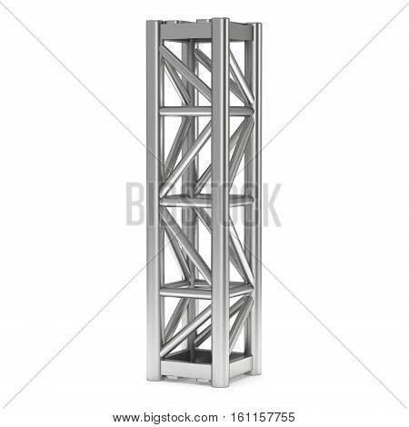 Steel truss girder element. 3d render isolated on white