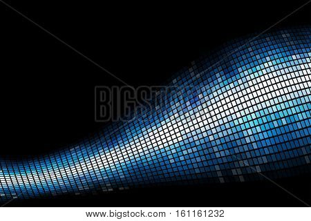 Abstract blue light mosaic background with copy space.