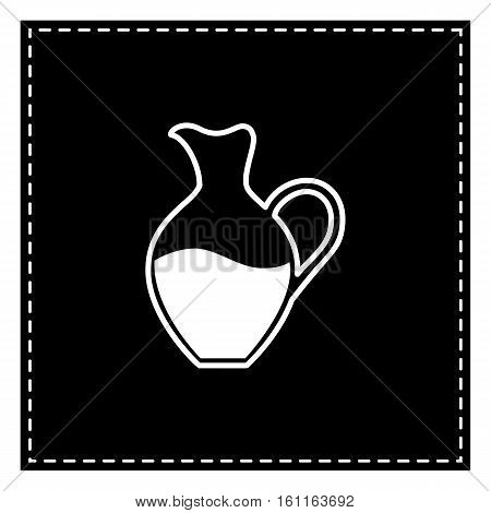 Amphora Sign. Black Patch On White Background. Isolated.